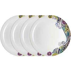 Denby Monsoon Cosmic Dinner Plates - 4 Piece Set Cookware & Utensils