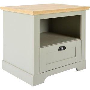 Homebase Diva Lamp Table - Grey Furniture, Grey