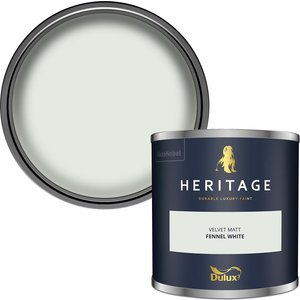 Dulux Heritage Colour Tester - Fennel White - 125ml Painting & Decorating, White