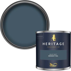 Dulux Heritage Colour Tester - Midnight Teal - 125ml Painting & Decorating, Blue