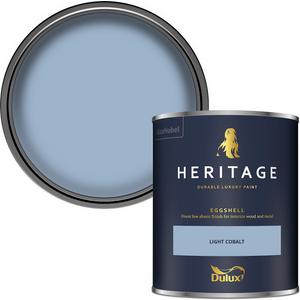 Dulux Heritage Eggshell Paint - Light Cobalt - 750ml Painting & Decorating, Blue