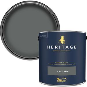 Dulux Heritage Matt Emulsion Paint - Forest Grey - 2.5l Painting & Decorating, Grey