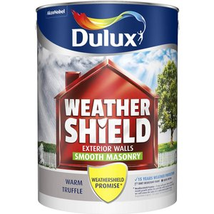 Dulux Weathershield Masonry Paint - Warm Truffle - 5l Painting & Decorating, Grey