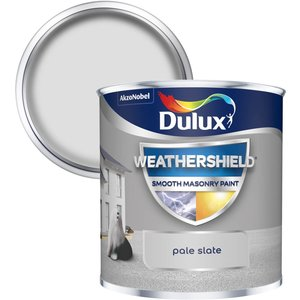 Dulux Weathershield Smooth Masonry Paint - Pale Slate - 250ml Painting & Decorating, Grey