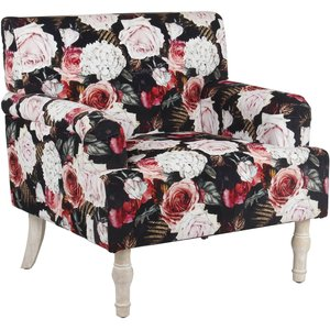 Homebase Elizabeth Floral Occasional Chair Furniture, Multicoloured