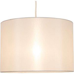 None Ella Simple Drum Lamp Shade - Cream Lighting, Cream
