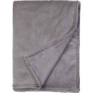 Homebase Fleece Throw Grey 150x200cm Home Accessories, Grey