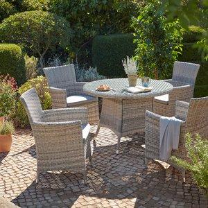 None Florence 4 Seater Garden Dining Set Sheds & Garden Furniture, Natural
