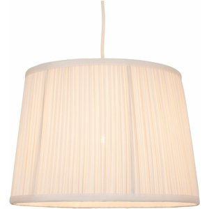 None Freya Mushroom Pleat Lamp Shade - Cream Lighting, Cream