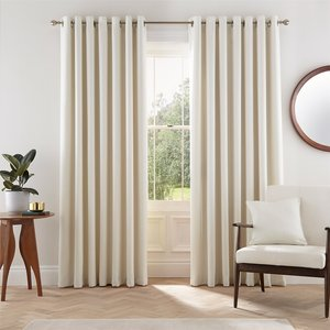Bedeck Helena Springfield Eden Lined Curtains 90 X 90 - Dove Curtains & Blinds, Grey
