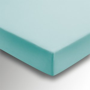 Bedeck Helena Springfield Plain Dye Fitted Sheet - Single - Aquamarine Home Accessories, Blue