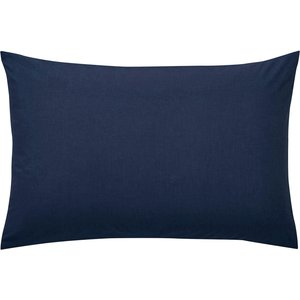 Bedeck Helena Springfield Plain Dye Standard Pillowcase - Navy Home Accessories
