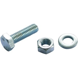 None Hex Bolt - Bright Zinc Plated - M8 50mm - 10 Pack Appliance Spares