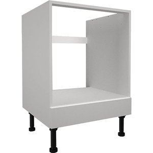Homebase High Gloss Slab White 600mm Built-in Oven Housing Unit Kitchen, White
