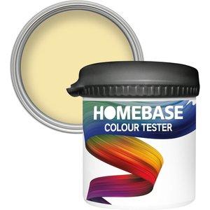 Homebase Paint Homebase Matt Colour Paint Tester - Lemon Souffle 90ml Painting & Decorating, Yellow