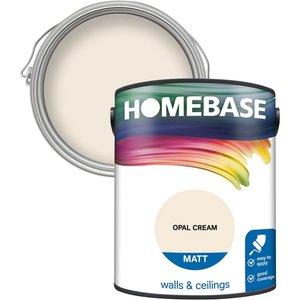 Homebase Paint Homebase Matt Paint - Opal Cream 5l Painting & Decorating, Cream
