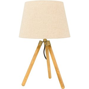 None Isla Tripod Table Lamp Lighting, Natural