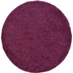 None Jazz Rug Plum Rug - 120cm Circle Home Accessories, Purple