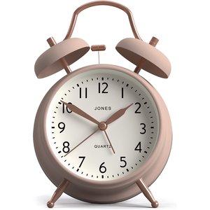 None Jones Bell Alarm Clock - Blush & Copper Diy, Pink