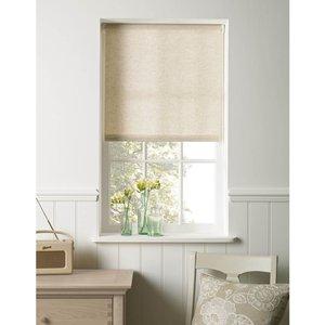 None Linen Look Roller Blind - 90cm Curtains & Blinds, Natural