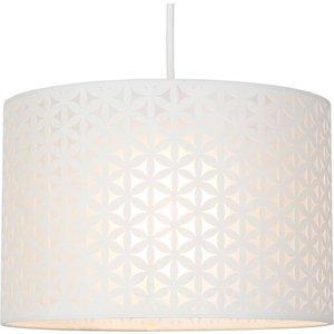 None Lucia Flower Lamp Shade - Cream - 30cm Lighting, Cream