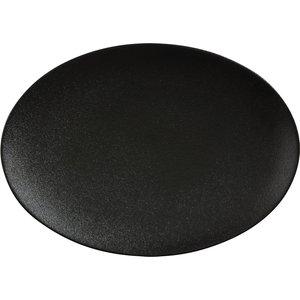 None Maxwell & Williams Caviar Oval Dinner Plate - Black Cookware & Utensils