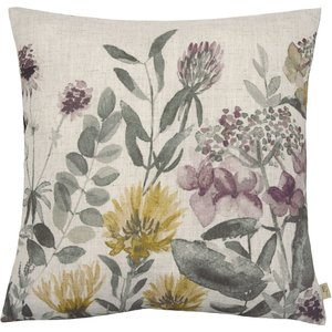 Homebase Meadow Printed Cushion - 43x43cm Home Accessories, Natural