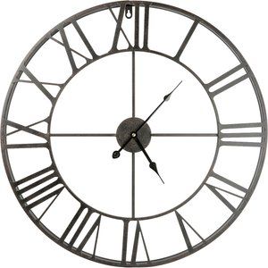 None Metal Wall Clock - Black - 60cm Diy, Black