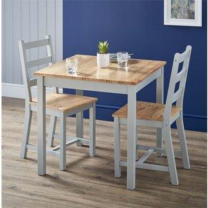 Homebase Mortimer Pine 2 Seater Dining Set Furniture, Grey