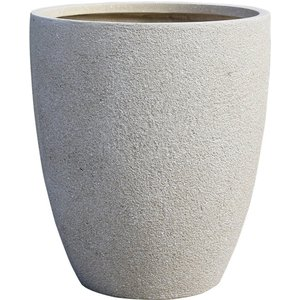 Northcote Pottery Niall Cup Garden Planter In Sand - 42cm, Beige