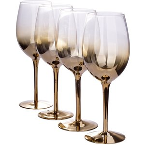 None Ombre Wine Glasses - Gold - Set Of 4 Cookware & Utensils
