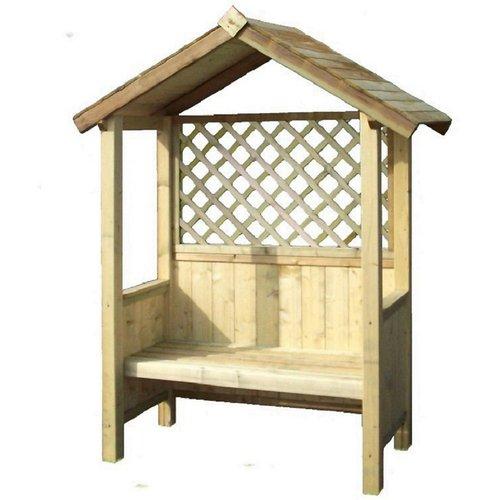 None Pantheon Artemis Fixed Seat Arbour Garden