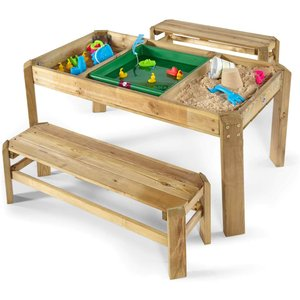 Plum Play Plum Wooden Activity Table & Benches Outdoor Toys