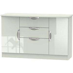 None Portofino 2 Door 3 Drawer Sideboard - Kaschmir Furniture, Grey