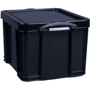 Really Useful Storage Box - Black - 35l Home Accessories, Black