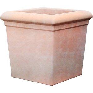None Regency Terracotta Square Pot - 20cm Garden, Orange