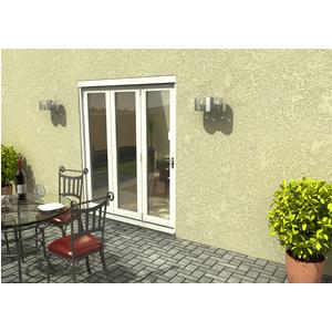 Rohden Slide & Fold Door Set 1800mm - White General Household, White