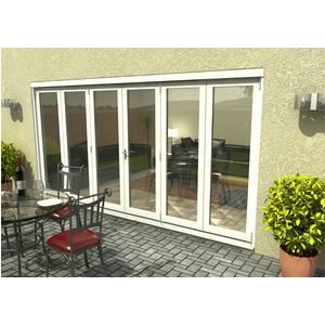 Rohden Slide & Fold Door Set 4200mm - White General Household, White