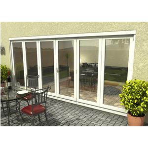 Rohden Slide & Fold Door Set 4800mm - White General Household, White