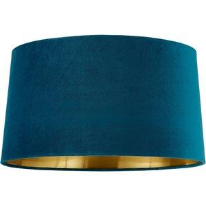 House Beautiful Samet Velvet Drum Shade - Teal - 45cm Lighting, Blue