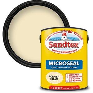 Sandtex Textured Masonry Paint - Cornish Cream - 5l Painting & Decorating, Cream