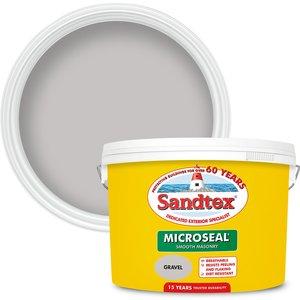 Sandtex Ultra Smooth Masonry Paint - Gravel - 10l Painting & Decorating, Grey