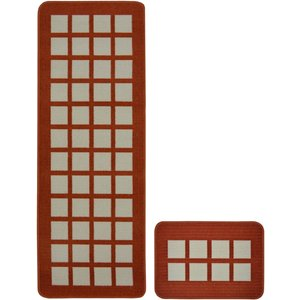 None Seville Runner Pack Terracotta Rug - 57 X 100cm Home Accessories, Red