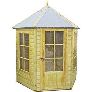 Shire Gazebo Summerhouse Pressure Treated - 7x6ft Sheds & Garden Furniture