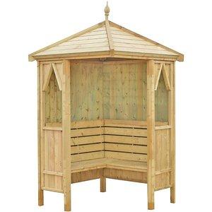Shire Honeysuckle Corner Arbour (incl. Installation) - 4x4 Sheds & Garden Furniture
