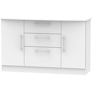 None Siena 2 Door 3 Drawer Sideboard - Grey Furniture, Grey