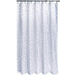 None Silk Leaf Shower Curtain Curtains & Blinds