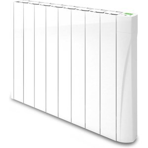 Tcp Wall Mounted Smart Wi-fi Oil Filled Radiator 1000w - White Home Security, White