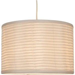 None Tex Folded Lamp Shade - Cream Lighting, Cream