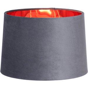 None Velvet Taper Lamp Shade - Grey - 30cm Lighting